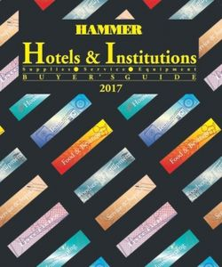 Hotels & Institutions Buyers Guide