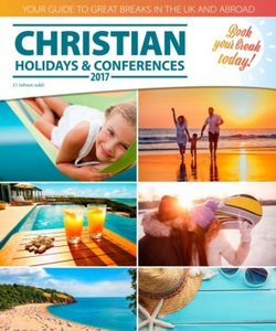 Christian Holidays & Conferences