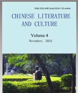 Chinese Literature and Culture