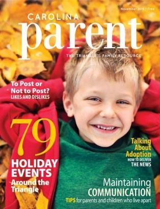 Carolina Parent Magazine November 2015 Issue Get Your Digital Copy