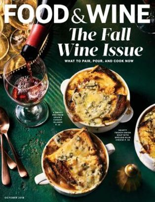Image result for food and wine magazine october 2018