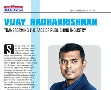 Rising entrepreneurs of the year: Vijay Radhakrishnan - Transforming the face of publishing industry