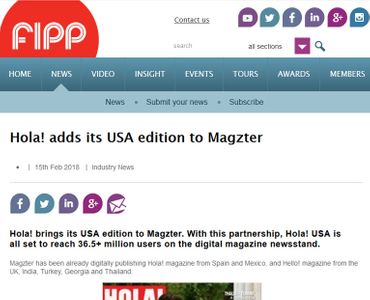 Hola! adds its USA edition to Magzter