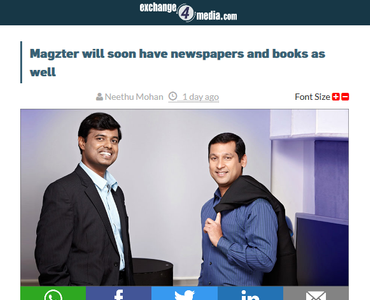Magzter Will Soon Have Newspapers And Books As Well