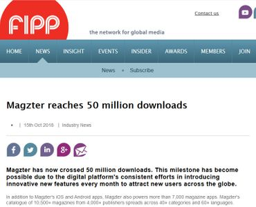 Magzter reaches 50 million downloads