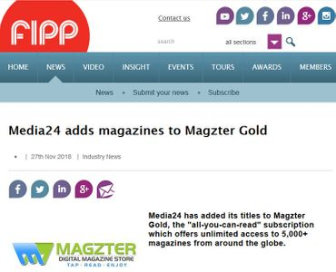Media24 adds magazines to Magzter GOLD