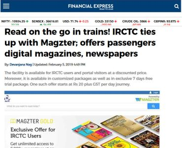 Read on the go in trains! IRCTC ties up with Magzter; offers passengers digital magazines, newspapers