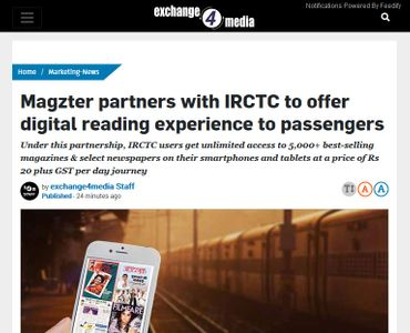 Magzter partners with IRCTC to offer digital reading experience to passengers