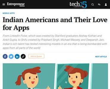 Indian Americans and Their Love for Apps