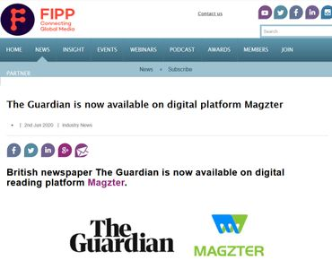 The Guardian is now available on digital platform Magzter
